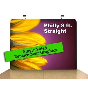 "8 Ft x 89"" H Straight Single Sided Philly (Print Only)"