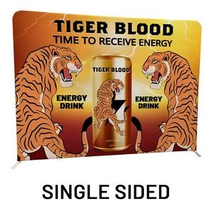 "8 Ft x 89"" H Straight Single Sided Philly Fabric Display Kit With FREE SOFT CARRY CASE"