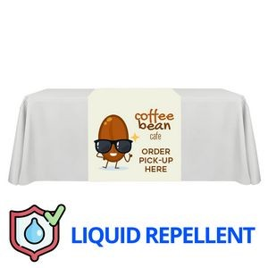 "36"" x 63"" Liquid Repellent Table Runner Polyester Full Color Full Bleed Dye Sublimation"