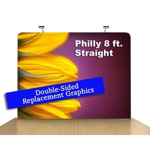 "8 Ft x 89"" H Straight Double Sided Philly (Print Only)"