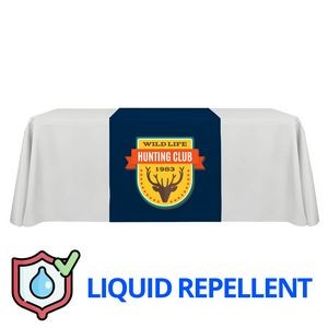 "30"" x 60"" Liquid Repellent Table Runner Polyester Full Color Full Bleed Dye Sublimation"