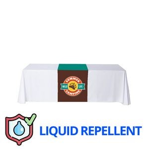 "24"" x 63"" Liquid Repellent Table Runner Polyester Full Color Full Bleed Dye Sublimation"