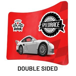 "8 Ft x 89"" H Curved Double Sided Philly Fabric Display Kit With Wheeled FREE SOFT CARRY CASE."