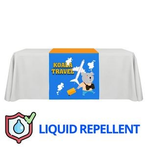 "30"" x 72"" Liquid Repellent Table Runner Polyester Full Color Full Bleed Dye Sublimation"