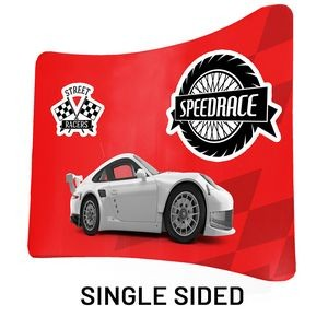 "8 Ft x 89"" H Curved Single Sided Philly Fabric Display Kit With FREE SOFT CARRY CASE"