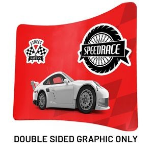 "8 Ft x 89"" H Curved Double Sided Philly (Print Only)"